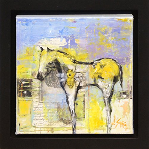 (Untitled Horse - Abstract Horse Painting Wildlife Art Small Wall Art Original Painting by Renowned Artist Janice Sugg)