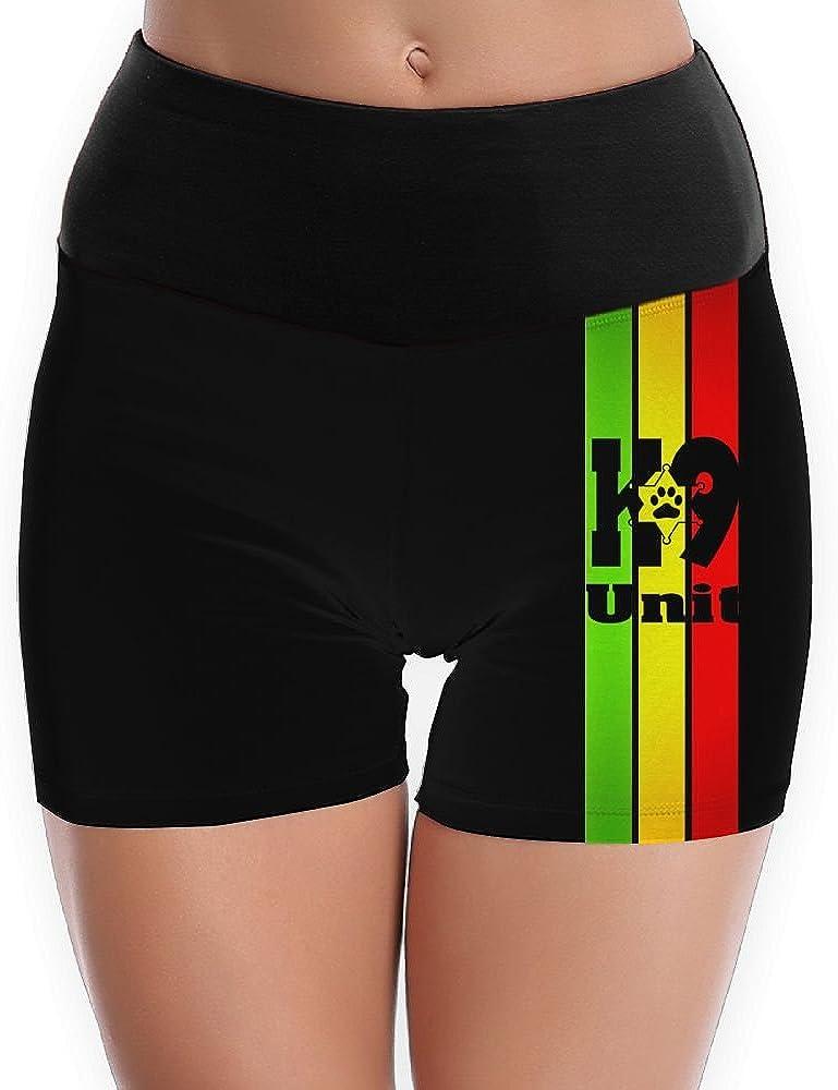 HOTCTDS Police K9 Unit Womens Yoga Short Pants Exercise Workout Running Shorts