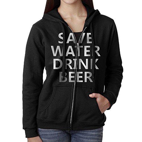 Beer Womens Zip Hoodie - 7