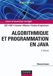 Algorithmique et programmation en Java - 3ème édition - Cours et exercices corrigés