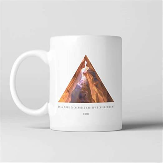 UUGOD Rumi Canyon Triangle Coffee Mug, Sell your cleverness ...