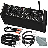 Behringer X Air XR12 Digital Mixer for iPad/Android Tablets with 12-Inputs Wi-Fi and USB +Accessory Bundle w/ 5X Cables, Fibertique Cloth