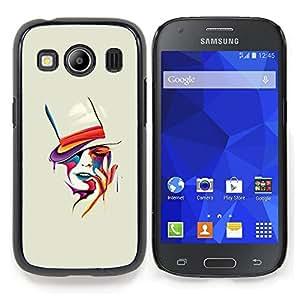 """For Samsung Galaxy Ace Style LTE/ G357 Case , Sensual mujer del sombrero de copa Pintura Naranja"""" - Diseño Patrón Teléfono Caso Cubierta Case Bumper Duro Protección Case Cover Funda"""