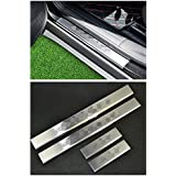 Nicebee Stainless Steel 4pcs Door Sill Protector Entry Guard Protection for 2014-2017 Jeep Cherokee