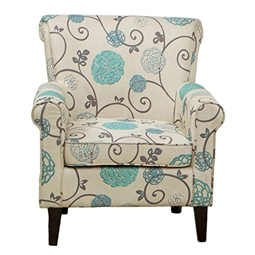 teal accent chair tufted blue