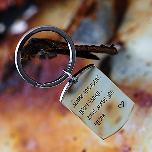 omodofo Marriage Made You My Family Love Made You My Son Wedding Party Gift Son In law Fathers Day Gift Keychain by omodofo (Image #4)