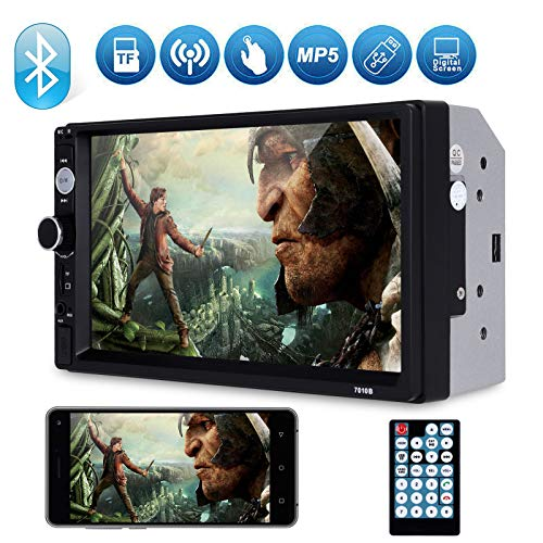 Universal Double Din Car Stereo, Xgody Mirror Link 7Inch Touch Screen in Dash Car Radio Receiver Audio Video Player Supports USB/FM/TF/BT/AUX/MP5 Multimedia with Remote Control