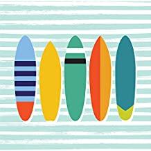 Oopsy Daisy Surfboards Canvas Wall Art by Ampersand Design Studio, 14 by 14-Inch