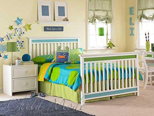 Full Size Conversion Kit Bed Rails for Lajobi's LittleMissMatched Confetti Crib - White