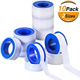 Skylety 10 Rolls Thread Seal Tapes, PTFE Pipe Sealant Tape (1/2 by 520 Inches and 3/4 by 260 Inches)