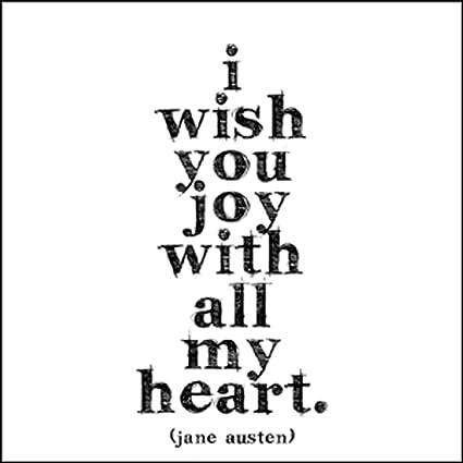 Quotes About Joy Unique Amazon Quotable Austen I Wish You Joy Cards Quotes
