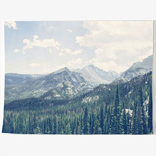 HomeOutlet Tapestry 60 x 50 Inches Colorful Summer Mountain Peaks Rocky National Park Colorado June Sharon Kilon Han Orange Lake Tapestries Wall Hanging Home Decor Living Room Bedroom Dorm