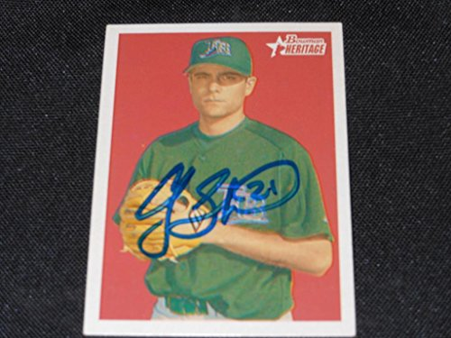 Rays Andy Sonnanstine Signed 2006 Bowman Heritage Autograph Card #BHP44 - Ray Andy
