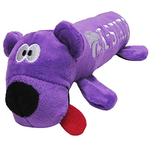 NCAA Kansas State Wildcats Tube Toy for Dogs & Cats. Soft Plush Fun Pet Toy with Two Inner SQUEAKERS.