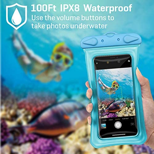Waterproof Phone Pouch, iSPECLE Universal 4 Pack Floating Waterproof Case Underwater IPX8 Transparent Cell Phone Dry Bag for iPhone Xs Max XR X 8 7 6 Plus Samsung Galaxy as much as 6.5""