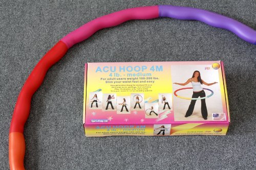 Rubber Foam Padding Medium Weighted Hula Hoop Workout for Workout Hoop Improves Weight Loss fe48e3