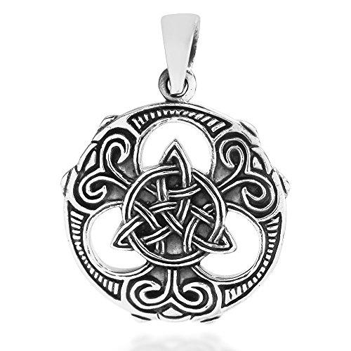 AeraVida Celtic Knots Vector Balance .925 Sterling Silver Pendant