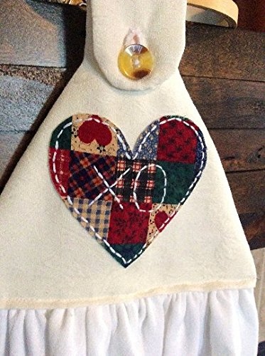 Hanging Kitchen Towel (Flour Sack With Heart) - Party Folded Treat Sack