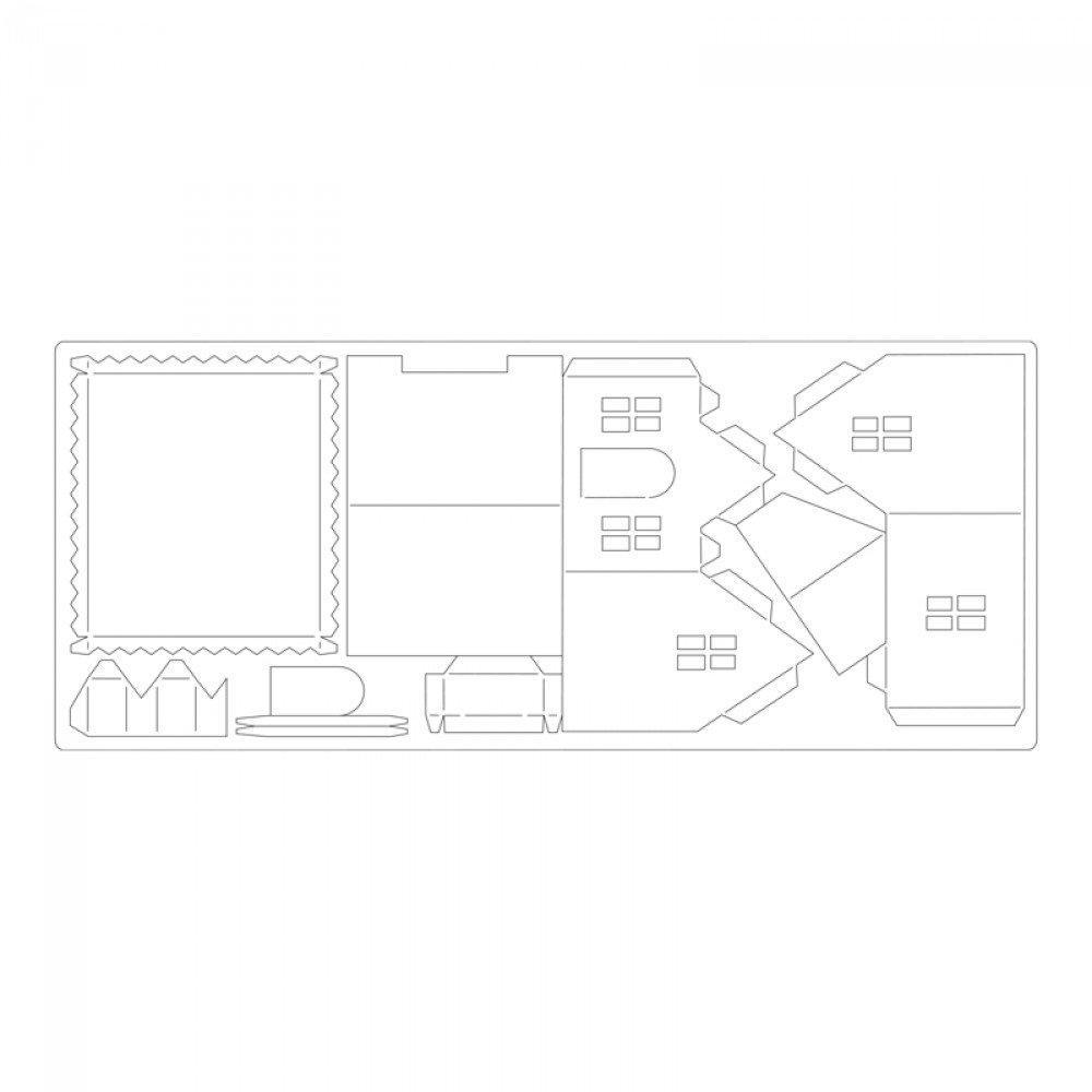Sizzix Bigz XL Die-Village Dwelling by Tim Holtz 37.5 x 15.2 x 2 cm Multi-Colour ABS Plastic//CARB Compliant Wood//Steel-Rule Blade//Long Lasting Ejection Foam