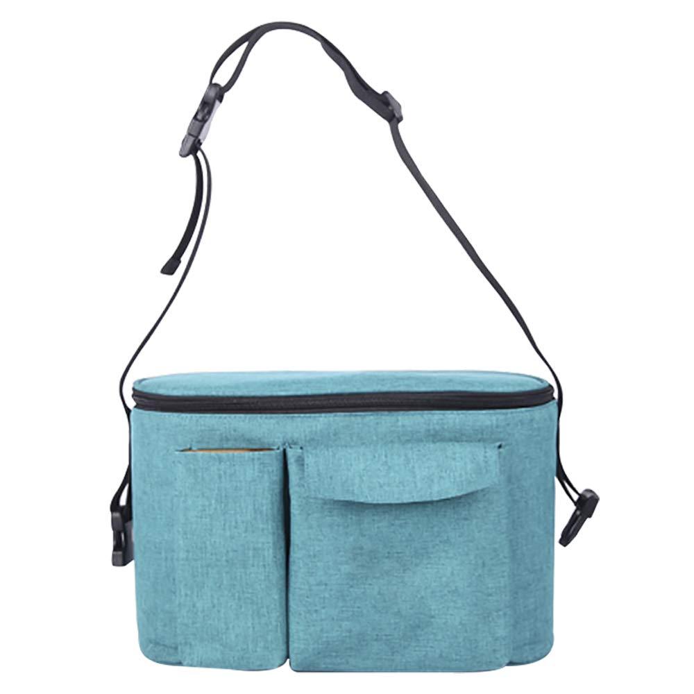 bolsa de pa/ñales juguetes y aperitivos azul azul bolsa de viaje impermeable con correa para el hombro para llevar botellas Hothuimin Bolsa de almacenamiento para cochecito de beb/é pa/ñales