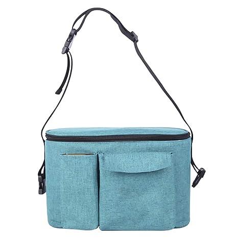Hothuimin Bolsa de almacenamiento para cochecito de bebé, bolsa de pañales, bolsa de viaje