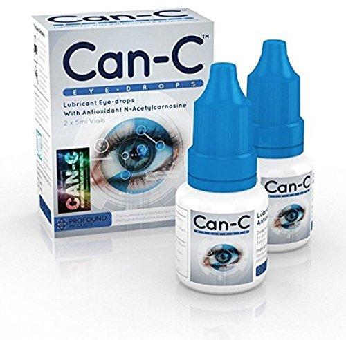 CAN-C Eye Drops 2 x 5 ml bottles PLUS FREE bonus lens cleaning cloth
