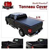 Mgpro 5ft Bed Black Vinyl Clamp On Soft Lock & Roll-up Top Mount Tonneau Cover Assembly w/Rails+Mounting Hardware Fit 05-19 Nissan Frontier Crew Cab & 09-12 Suzuki Equator Pickup