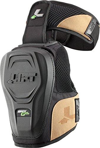 LIFT Safety Hardshell Apex Gel Knee Guard (Black, One Size)