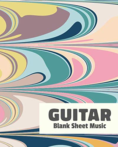 Guitar Blank Sheet Music: Notebook with Blank Guitar Tab Manuscript Paper and Abstract Pastel Marble Cover Design