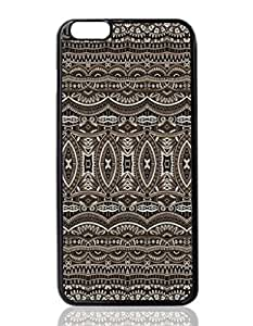 Brown Aztec Tribal Pattern Custom Hard Plastic back cell Phones Case for Apple iphone6 plus - iphone 6 plus 5.5 inch Case Cover