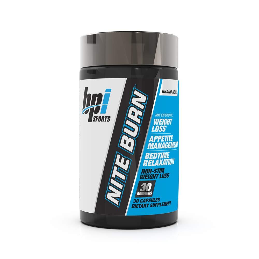 BPI Sports Nite Burn - Fat Burner - Sleeping Pill - Keto-Friendly - Weight Loss, Burn Fat, Relaxation, Boost Metabolism - 30 Servings - 640mg by BPI Sports