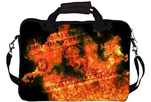 Snoogg Dollars Gedruckt Notebook-Tasche mit Schultergurt 15 bis 15,6 Zoll