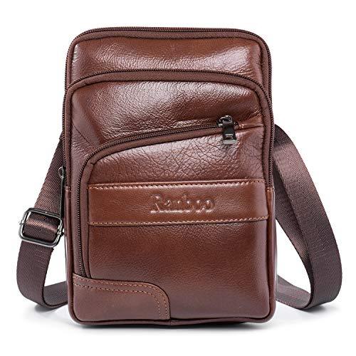 Mens Leather Crossbody Bag 7.9