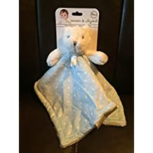 Bear with Light Blue & White Polka Dot Baby Security Blanket from Blankets & Beyond by Blankets and Beyond