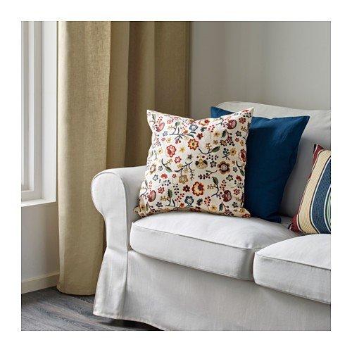 Kissenhülle IKEA BRUNÖRT Kissenbezug in bunt; 100/% Baumwolle; 50x50cm