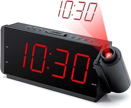 Amazon.com: DreamSky - Radio despertador de proyección con ...