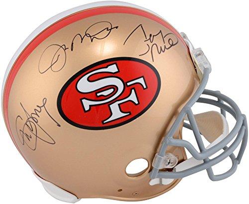 Joe Montana, Steve Young, Jerry Rice San Francisco 49ers Autographed Riddell Pro Line Helmet - Fanatics Authentic Certified