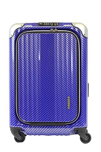 Enkloze X1 Carbon Carry-On 21' Spinner 100% PC TSA aprobado frontal de carga sin cierre, Azul carbón, Carry On 21.2'