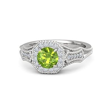 14K White Gold Finish Multi Color Stone Beautiful Engagement U0026 Wedding Ring  Alloy