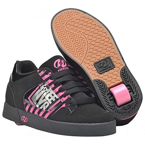 Price comparison product image Heelys Caution Skate Shoe (Little Kid/Big Kid),Black/Magenta/Silver,13 M US Little Kid