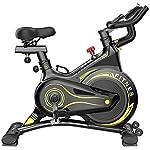 51mL3cNOXrL. SS150 JGXRJLK Cyclette Professionale,Spin Bike stazionario con Volano Cinghia, Supporto Tablet Supporto Smartphone & Comodo Sella