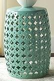 Cheap Safavieh Castle Gardens Collection Lacey Light Blue Glazed Ceramic Garden Stool