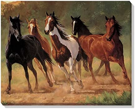 Home Run Horses Wrapped Canvas By Chris Cummings Posters Prints