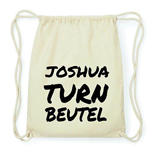 JOllify JOSHUA Hipster Turnbeutel Tasche Rucksack aus Baumwolle - Farbe: natur Design: Turnbeutel Fsv8a