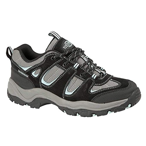 UP WATERPROOF TRAINER MONTANA Lt SHOE Blue FULLY Black HIKING WALKING PINE LACE LADIES 0qftBw8f