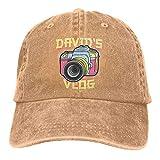 Jeans Hat David's Vlog Retro Baseball Cap Sports Cap Adult Trucker Hat Mesh Cap