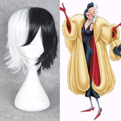 101 Dalmatians wig black and white bear anthropomorphic cartoon wig