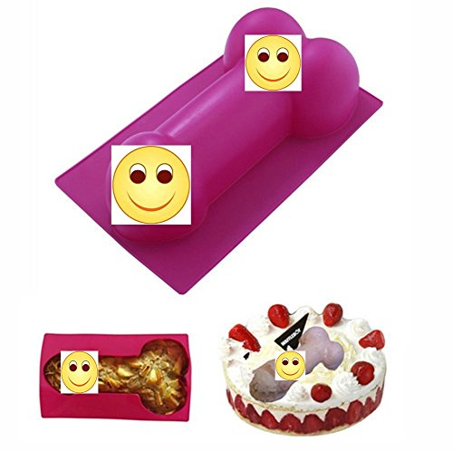 1 Pcs Pink Big Large Shape Silicone Mold for Birthday Single Party Hilarious Funny Baking Pan Handmade DIY Mousse Chocolate Fondant Soap Cake Ice Cube Mould Tool Novelty Cake Pans ()