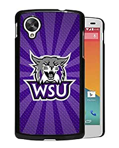NCAA Weber State Wildcats 9 Black Hard Shell Phone Case For Google Nexus 5