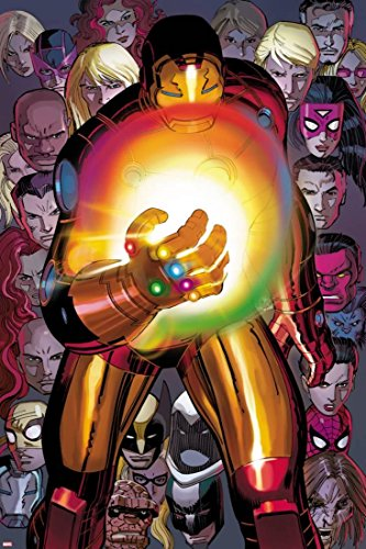 ArtEdge Avengers No.12: Iron Man with The Infinity Gauntlet by John Romita Jr, Poster, 12 x 18 in
